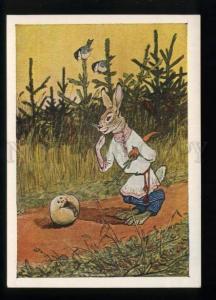 165498 RUSSIA Kolobok & Dressed HARE Rabbit by RACHEV old PC