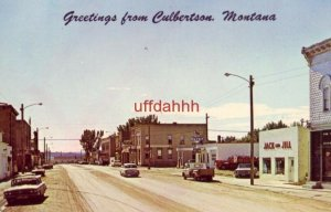GREETINGS FROM CULBERTSON, MT the junction of U.S. 2 and State Highway 16