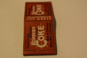 Koppers Coke Made in Chicago Red 20 Strike Matchbook Cover