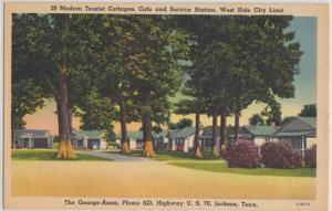 Jackson TN -George-Anna Cottages Cafe and Service Station , Hwy U.S. 70, 1930s