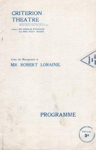 98.9 Mabel Love Gerald Ames A Vane Tempest Marie Ilington Theatre Programme