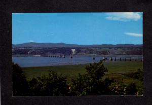QC Pont de L'lle Orleans Island Falls Quebec City Canada Postcard Carte Postale