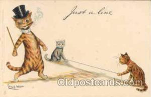 Artist Signed Louis Wain (Great Britain) Postcard Post Card  Artist Signed Lo...