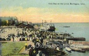 Gala Day On The Levee Ferry Boat, Ferries, Ship Burlington, Iowa, USA Writing...