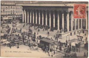 France, PARIS, La Bourse, 1911 used Postcard