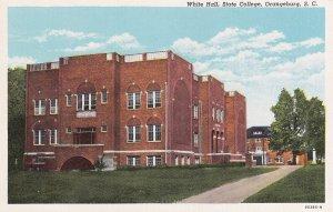 ORANGEBURG, South Carolina, 1930-40s; White Hall, State College