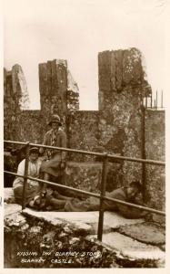 UK - Ireland. Blarney Castle. Kissing the Blarney Stone    *RPPC