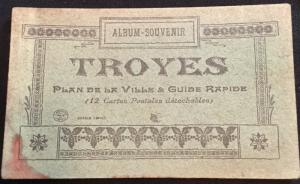 Postcard Unused Book of 6 Postcards Troyes France LB