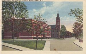 Holy Family School And Church, Woonsocket, Rhode Island, PU-1944