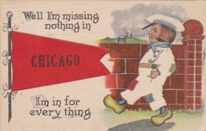 Illinois Chicago Dutch Kids 1913 Pennant Series