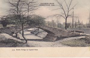 Rustic Bridge in Capitol Park, BIRMINGHAM, Alabama, 1901-07