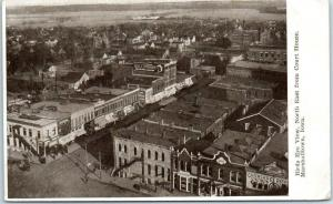 Marshalltown, Iowa Postcard Bird's-Eye View, NE from Court House c1910s Unused