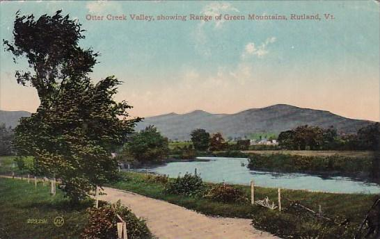 Vermont Rutland Otter Creek Valley Showing Range Of Green Mountains 1915