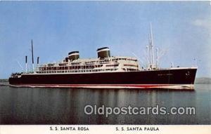 SS Santa Rosa, SS Santa Paula Grace Line Ship Postcard Post Card Grace Line P...