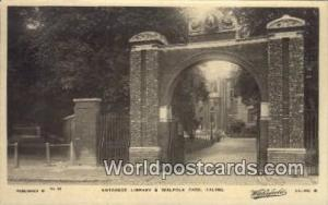 United Kingdom, UK, England, Great Britain Library & Walpole Park Ealing Eali...