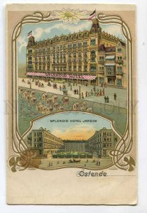 287204 BELGIUM OSTENDE Splendid Hotel Jardin ADVERTISING Vintage postcard
