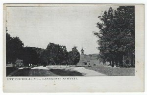 Pittsfield, Vermont, Vintage Postcard View Looking North