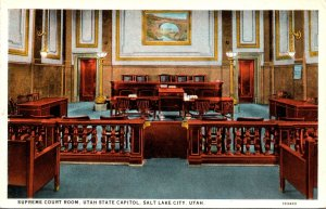 Utah Salt Lake City State Capitol Supreme Court Room Curteich