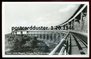 1346 - NEW ORLEANS Louisiana 1940s Huey Long Bridge. Real Photo Postcard