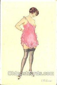 Les P'tites Femmes F. Fabiano, (France ) Artist Signed Unused