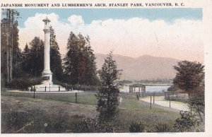 VANCOUVER, British Columbia, Canada, 1910-1930s; Japanese Monument And Lumber...