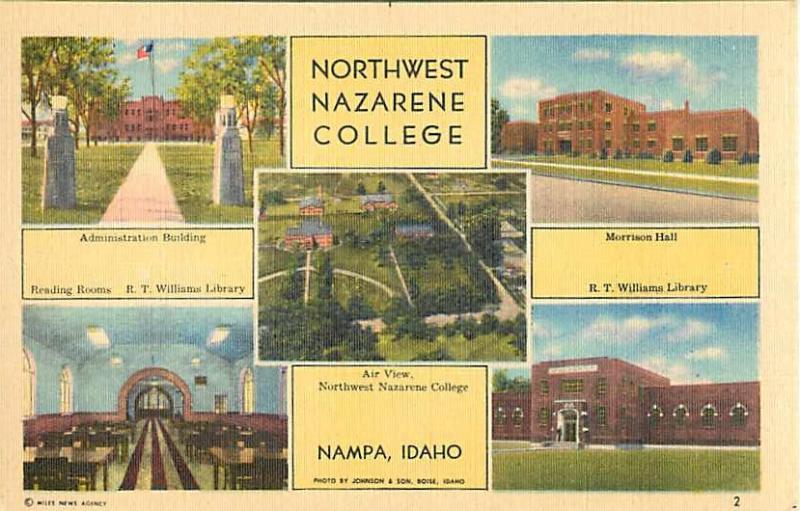 Linen Views of Northwest Nazarene College Nampa Idaho ID
