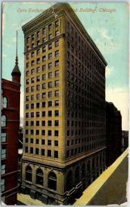 1911 Chicago IL Postcard Corn Exchange National Bank Building Bird's-Eye View