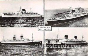 Antilles, Flandre Souvenir Du Havre Ship Unused