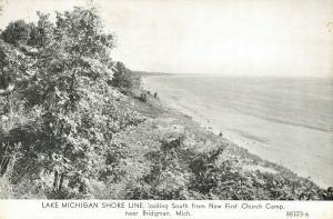 Bridgman MI~Lake Michigan Shore Line South~New First Church Camp~1920s CR Childs