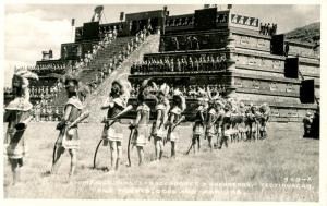 Mexico - Teotihuacan. High Priests, Gods and Warriors.    *RPPC