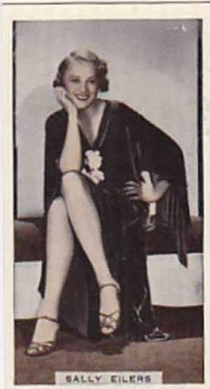 R &amp  J Hill Vintage Cigarette Card Cinema Celebrities No 3 Sally Eilers  1936