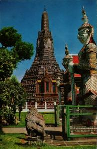 CPM THAILAND Pagoda and Giant Guardian, Temple of Dawn. Thon Buri (344989)