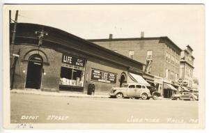 Livermore Falls ME Street View Store Fronts Old Cars RPPC Real Photo Postcard