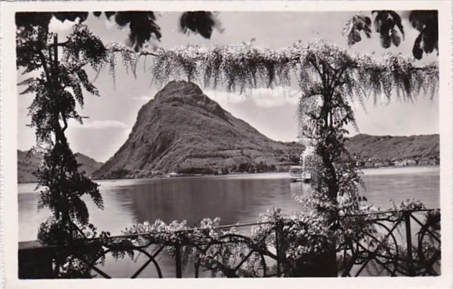 Switzerland Lago di Lugano e Monte San Salvatore 1951 Photo