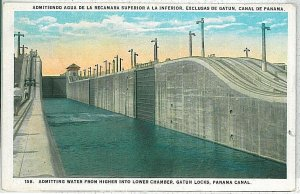 VINTAGE POSTCARD: PANAMA - THE CANAL