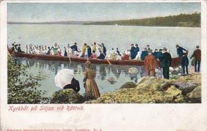 Sweden Kyrkbat pa Siljan vid Rattvik Boat Party Going To Church