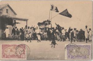 Sudanese dance Djibouti early postcard