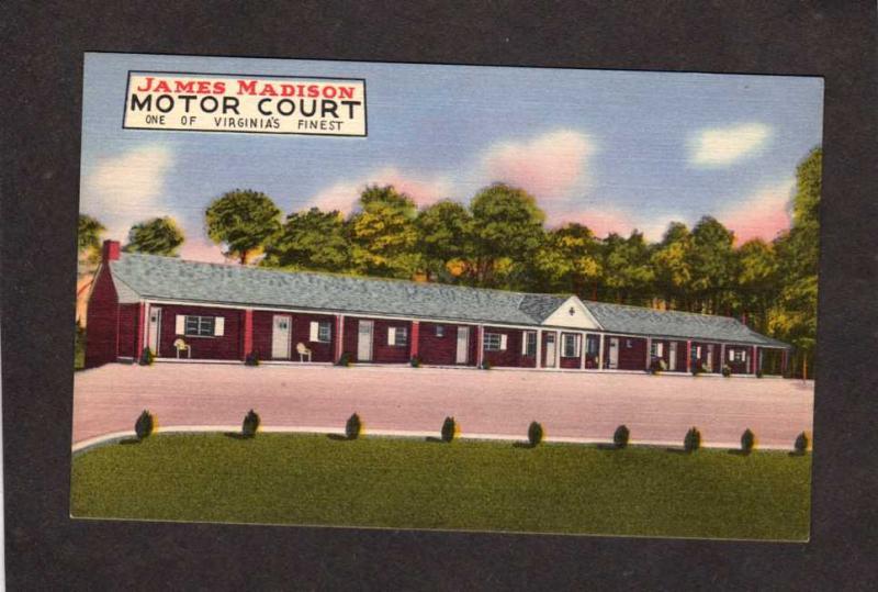 VA James Madison Motor Court Motel Port Royal Virginia Postcard C B Holloway
