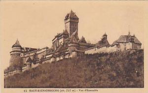 Haut-Koenigsbourg - Vue d'ensemble , ALSACE , France, 1910s