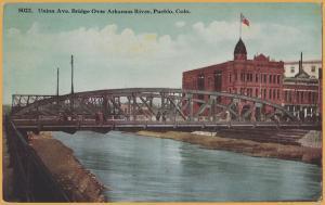 Pueblo, Colo., Union Ave, Bridge over Arkansas River