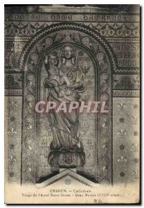 Postcard Old Virgin Embrun Cathedral of Our Lady Altar