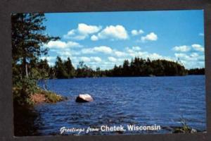 WI Greetings from CHETEK WISCONSIN Postcard PC