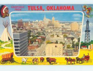 Pre-1980 GREETINGS FROM POSTCARD Tulsa Oklahoma OK ho5653