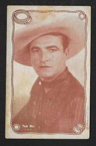 ARCADE CARD Cowboy Entertainer Tom Mix