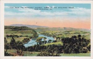 Wyalusing View From The Roosevelt Highway North Of The Wyalusing Rocks Pennsy...