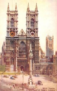 London United Kingdom, Great Britain, England West Towers, Westminster Abbey ...