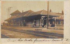 AURORA, MISSOURI FRISCO TRAIN DEPOT-1907 RPPC REAL PHOTO POSTCARD