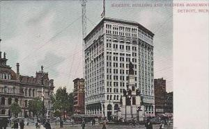 Michigan Detroit Majestic Building &  Soldiers Monument