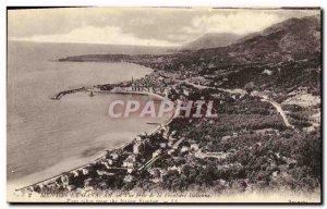 Old Postcard Menton Garavan and View from the Italian border