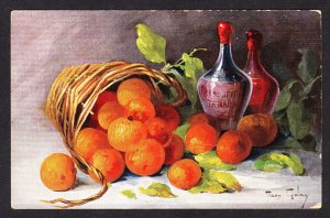 Mary Golay - Still life with fruit and wine